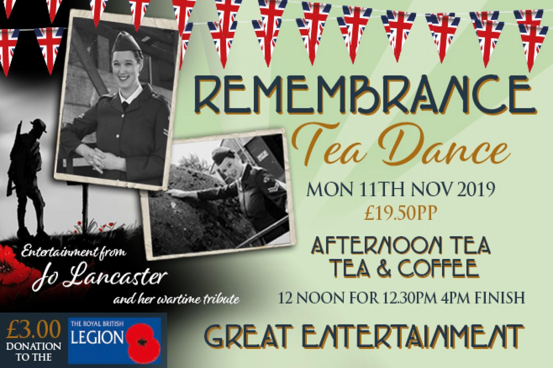 Rememberance Tea Dance (11th November 2019)