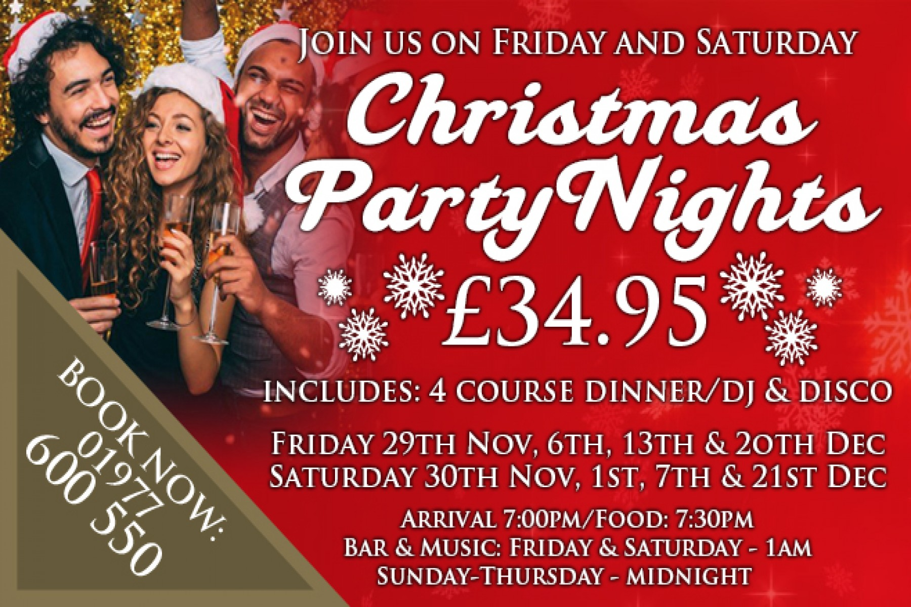 Christmas Party Night (21st December 2019)