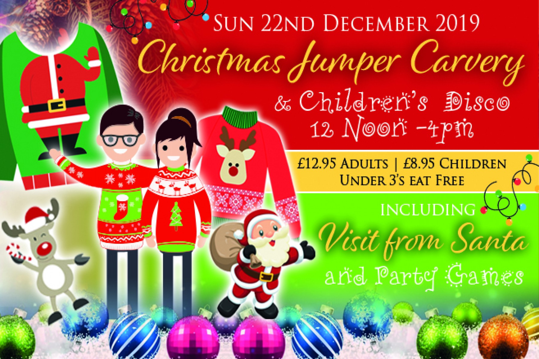 Christmas Jumper Carvery (22nd Dec 2019)