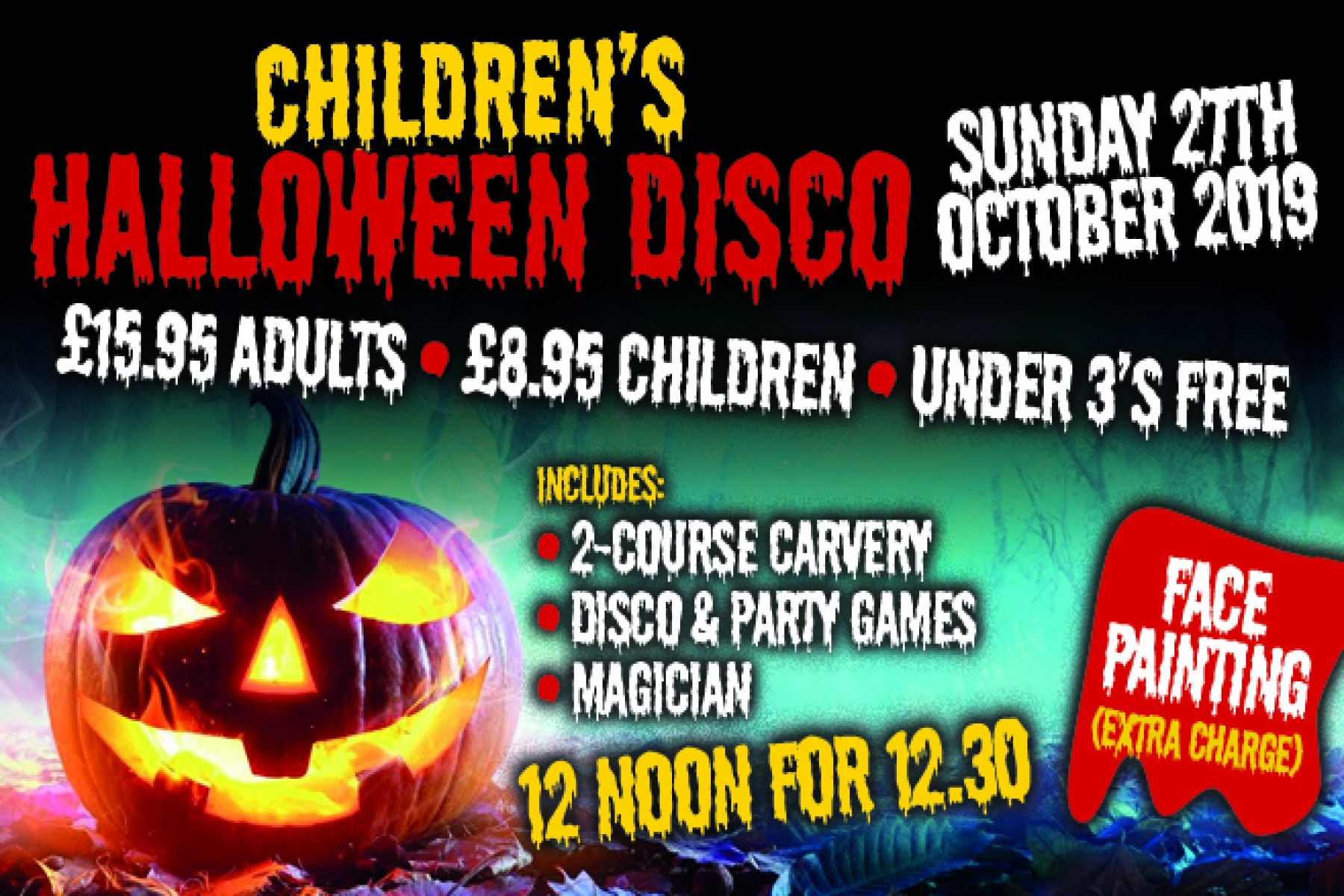 Children's Halloween Disco (27th October 2019)